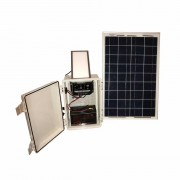 1 LIGHT INDOOR SOLAR LIGHT SYSTEM - 300 LUMEN LIGHT PLATE, KSOL POWER BOX 10U7, 20 WATT SOLAR PANEL, KSOL POWER