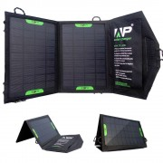 PORTABLE FOLDABLE SOLAR CHARGER - 8 WATT, 5 VDC, DUAL USB, BLACK, ALLPOWERS