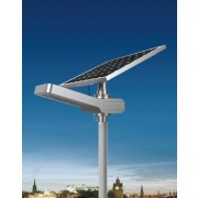 Solar LED Outdoor Street/Area Light - 4200 Lumen, Pole-Mount, Adjustable Solar Panel, Daylight Light (6000K), Remote, KSOL Power