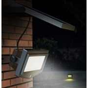 Solar LED Outdoor Wall Security Light - 1000 Lumens, Bright White Light, Detached Solar Panel, Motion Sensor, KSOL Power