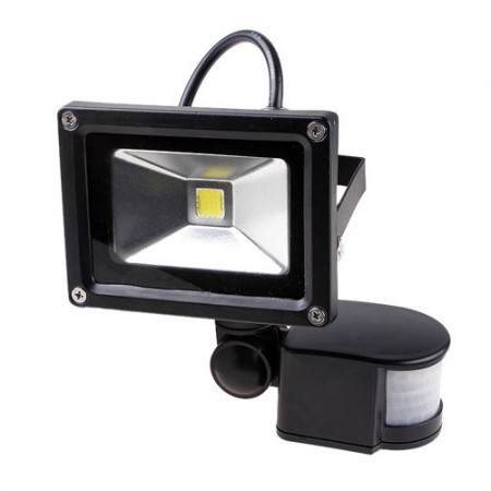 Led Bracketed Outdoor Floodlight Infrared Motion Sensor