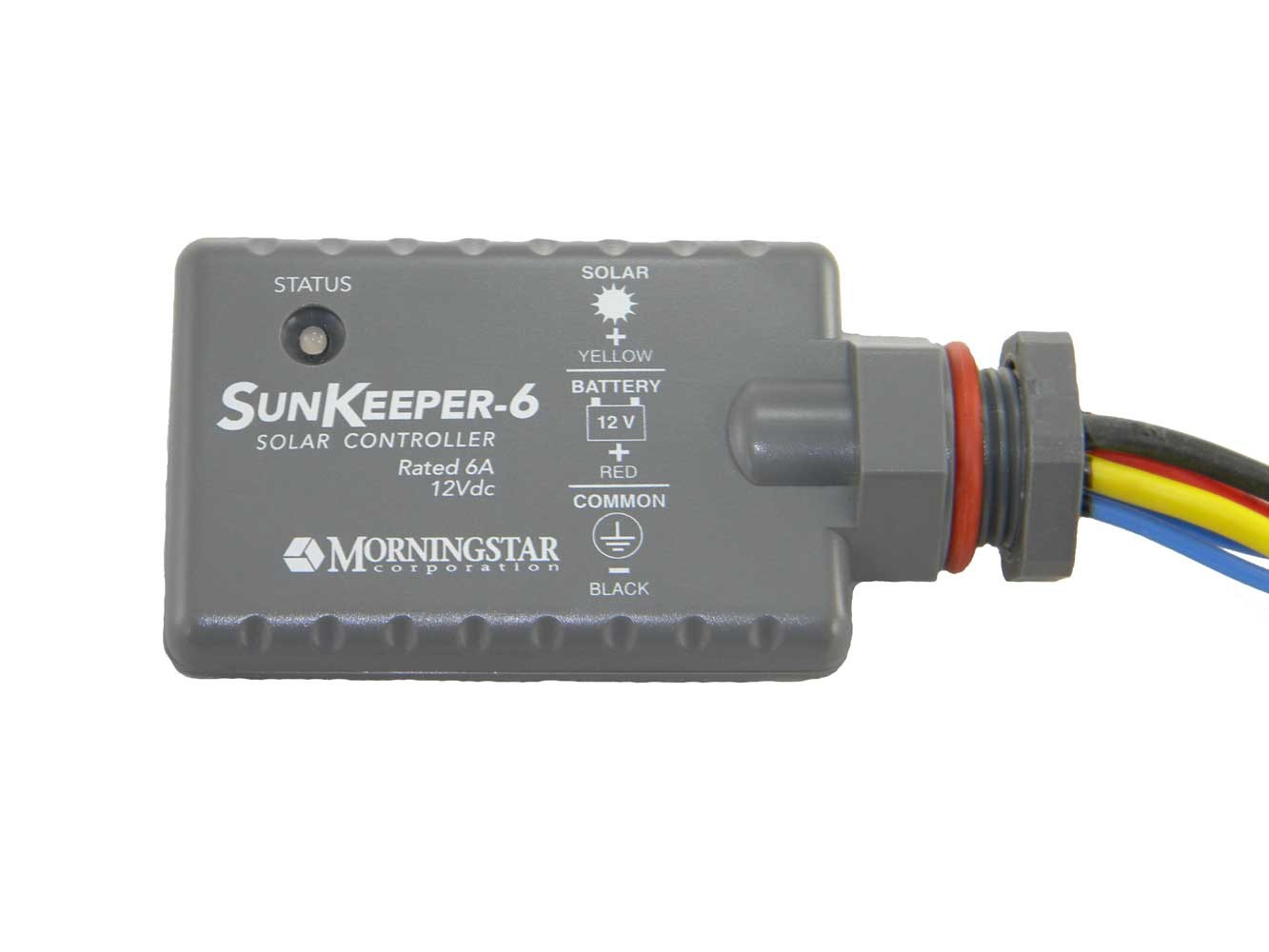 MORNINGSTAR SUNKEEPER SK-6 CHARGE CONTROLLER - 6 AMP, 12 VOLT DC