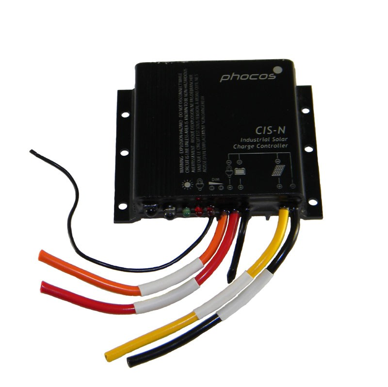 PHOCOS CIS-N CHARGE CONTROLLER - 12/24 VOLT DC, 10 AMP, NEGATIVE GROUND, P/N CIS-N-10-1.0