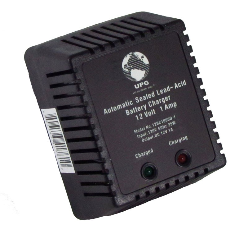 SMALL BATTERY CHARGER BLOCK - 12 VOLT DC, 1 AMP, DUAL STAGE, REGULATED, NO LEADS, UPG, P/N D1761
