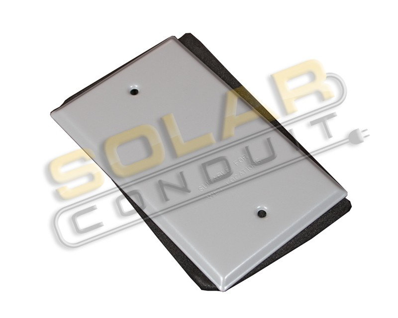 Outlet Box Cover Single Gang Metal Gray Wet Location W Gasket