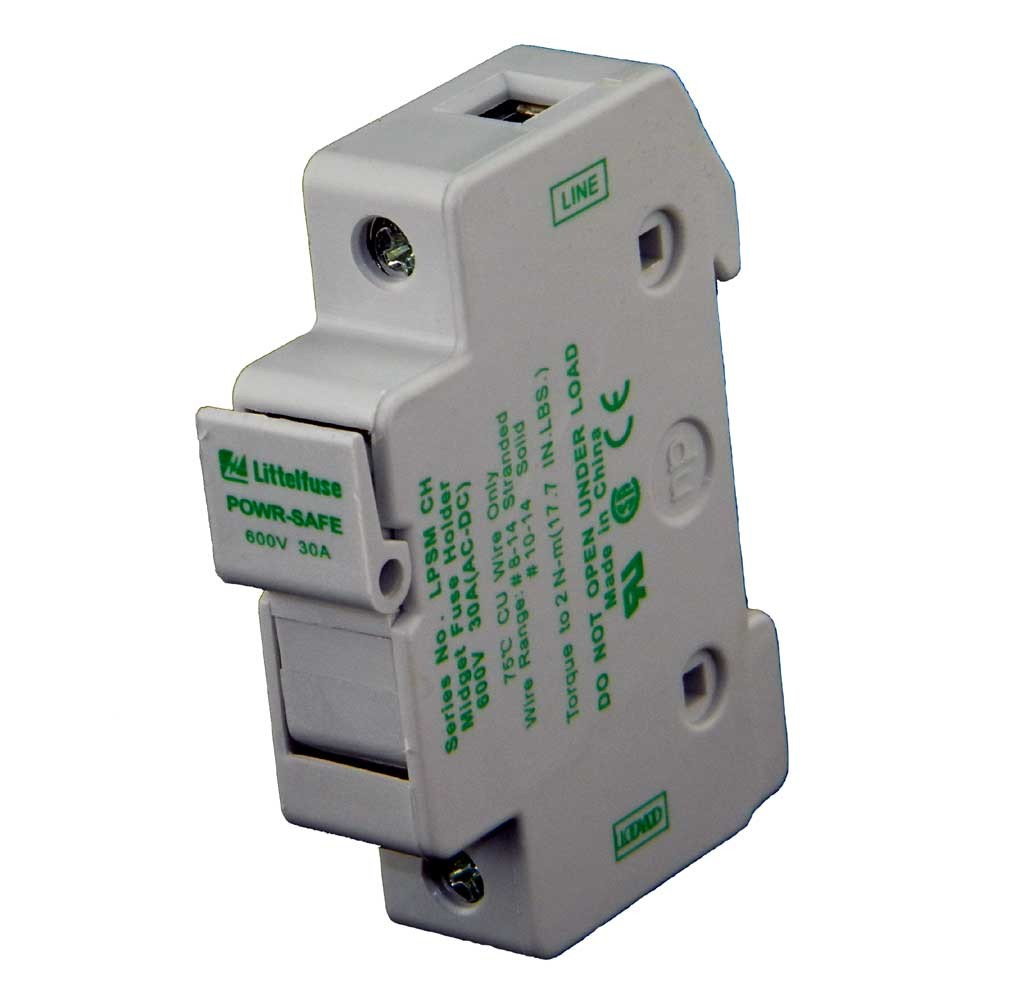 Din Rail Fuse Holder Electrical Wiring Diagrams Edison Box Mount For Midget 10x38mm Fuses 600 Vdc Rh Solarconduit Com