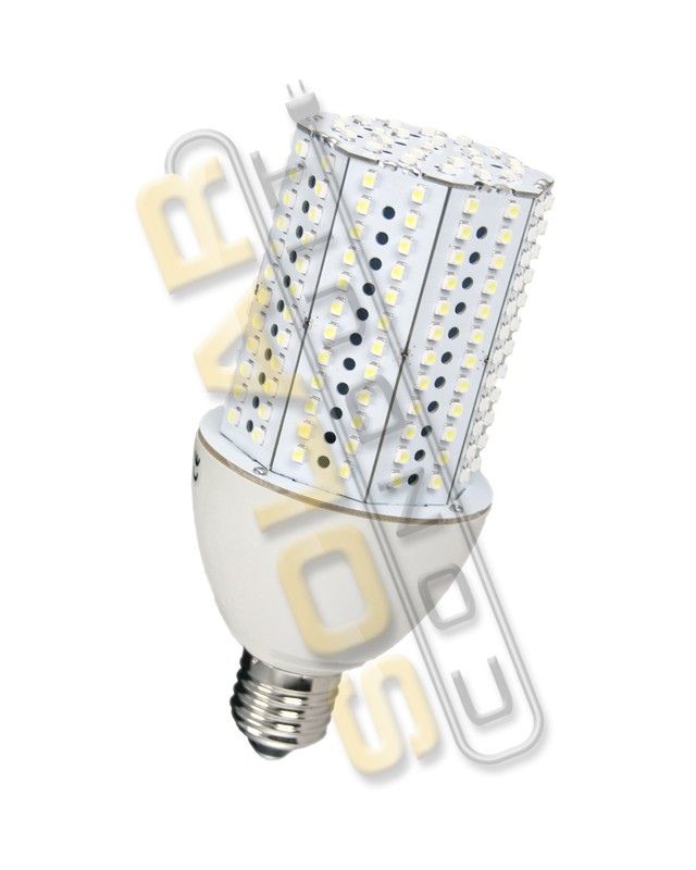 "LED BULB - 15 WATT, 85-265 VAC, 216 LED, E27 BASE, 'CORN"" STYLE, COOL WHITE, KSOL POWER"