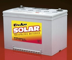 "MK BATTERY SEALED GEL DEEP-CYCLE BATTERY -  60 AMP HOUR, 12 VOLT DC, 1/4"" FEMALE POST, 8G34-DEKA"