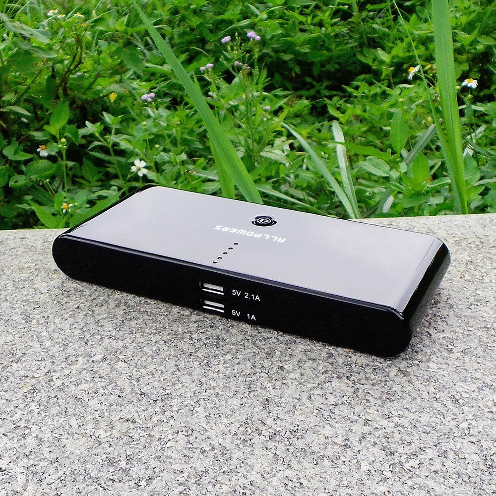 LI-POLYMER PORTABLE POWER PACK - 50000MAH, 2 USB PORTS, ALLPOWERS