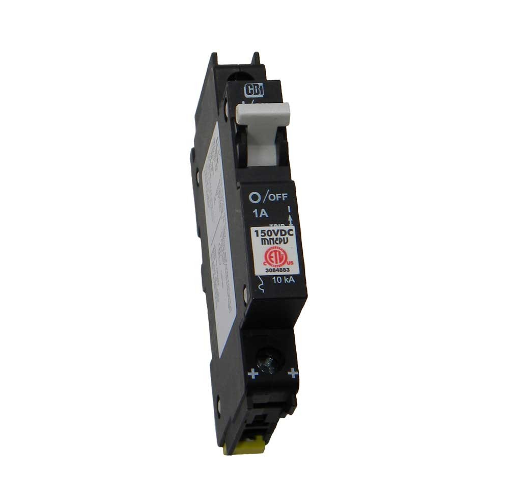 Dc Circuit Breaker 1 Amp 150 Volt Din Rail Mount P N Mnepv1 Electronic Fuse For