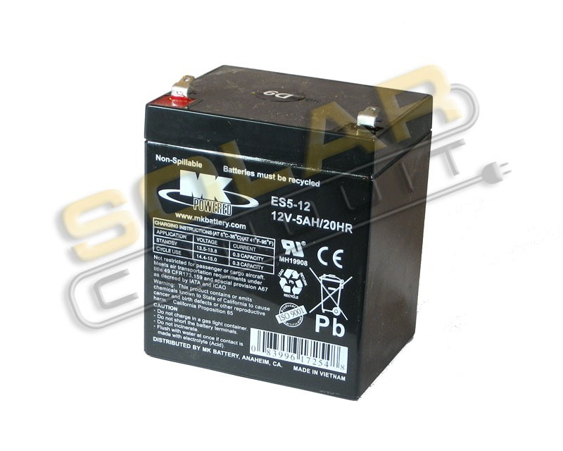 mk battery es5 12 small sealed agm battery 12 volt dc 5 amphour 12 volt dc small sealed. Black Bedroom Furniture Sets. Home Design Ideas