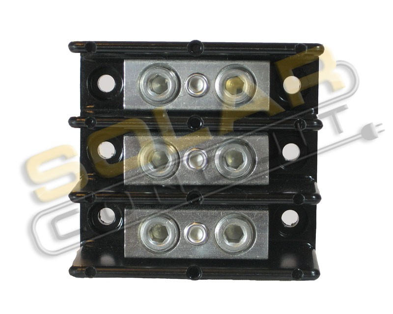 Power Distribution Block 3 Pole 6 0 6 0 Awg Wire 600