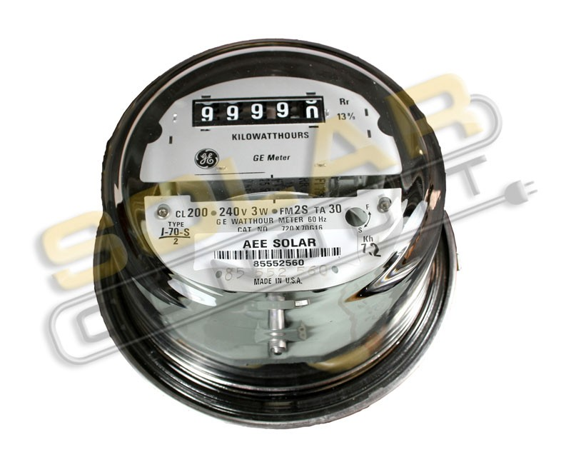 KILOWATT HOUR METER - 240 VOLT AC, 100 AMP EZ -READ, RECONDITIONED