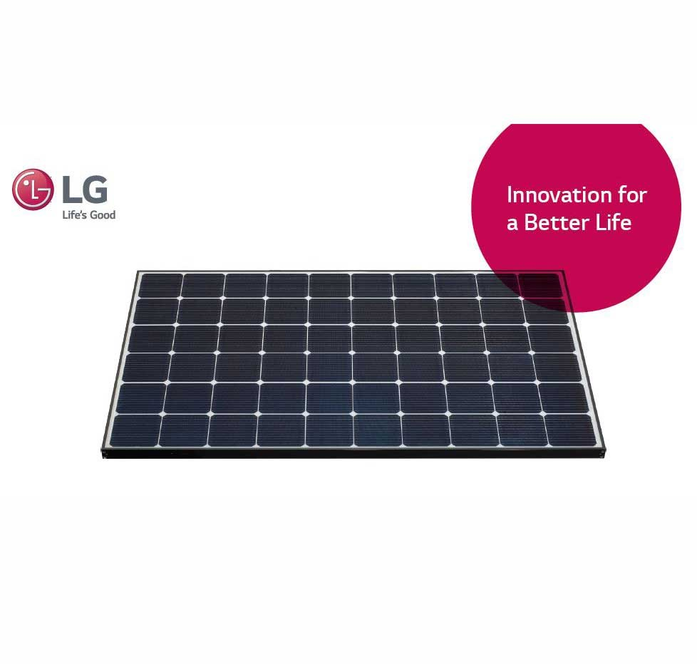 lg neon2 solar pv module 310 watt mono black frame. Black Bedroom Furniture Sets. Home Design Ideas
