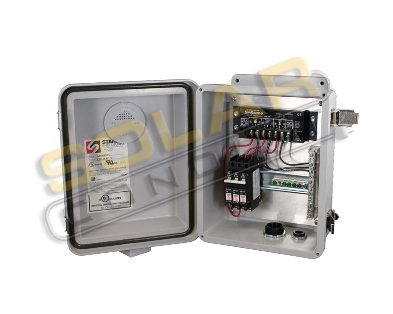 KSOL Power Solar Box 6AM - 6 Amp, 12 VDC Morningstar Solar Charge Controller Enclosure System, Outdoor Rated