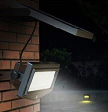 SOLAR LED PIR SECURITY LIGHT - 5 WATT PV MODULE, LI-ION BATTERY, KSOL POWER