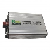 POWER INVERTER - 1500 WATTS, MODIFIED SINE WAVE, 12 VDC INPUT, 110 VAC OUTPUT, 60HZ, 3 PLUG SOCKETS, KSOL POWER