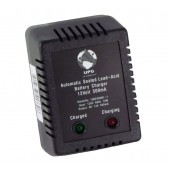 SMALL BATTERY CHARGER BLOCK - 12 VOLT DC, 500 MILLIAMP, DUAL STAGE, REGULATED, NO LEADS, UPG, P/N D1730