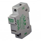 FUSE HOLDER - DIN RAIL MOUNT FOR MIDGET (10X38MM) FUSES, 600 VDC, LOCKING, LITTELFUSE,  P/N LPSM001CH