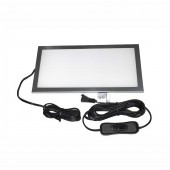 12 VOLT DC LED INDOOR LIGHT PLATE - 200MM, 6 WATT, 300LM, COOL WHITE, W/WALL SWITCH & 10 FT CABLE, KSOL POWER