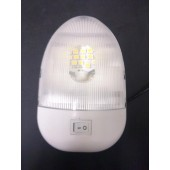 LED DOME LIGHT FIXTURE - 12 VOLT DC WITH SWITCH, KSOL POWER