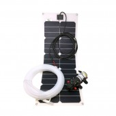 Portable Solar-Direct Water Pumping System - Surface Water Pump (0.7 GPM), 35 Watt Semi-Flex Glassless Solar Panel, KSOL Power