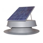 SOLAR ATTIC FAN, 30 WATT ADJUSTABLE PV MODULE, 1550 CFM, CURB-MOUNTED COMMERCIAL, NATURAL LIGHT