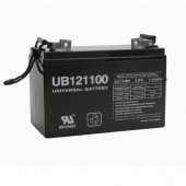 SEALED AGM DEEP-CYCLE SOLAR BATTERY, 12 VOLT DC, 110 AMP HOUR, GRP30H, FLAG POST, UNIVERSAL BATTERY, P/N UB121100