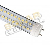 "LED BULB - 26 WATT, 120 VAC, 240 LED, T8, NATURAL WHITE (4100K), CLEAR LENS, ""E2"" WIRING, KSOL POWER"