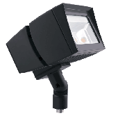 OUTDOOR LIGHTING FLOOD LIGHT - 39 WATT LED, 120-240/277 VAC, 2991 LUMENS, COOL WHITE/DAYLIGHT (5100K),  BRONZE, RAB, P/N FFLED39