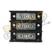 POWER DISTRIBUTION BLOCK - 3-POLE, #6/0-6/0 AWG WIRE, 600 VOLT, 350 AMP