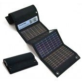 POWERFILM USB+AA FOLDABLE SOLAR CHARGER - 3.6 VOLT DC, 0.4 AMP, BLACK