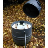 "BARREL HYDRO HOUSING - FOR PELTON WHEEL (ROUND HOUSING) - 4"" DRAIN"