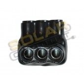 INSULATED CABLE CONNECTOR BLOCK, #4-14 AWG, 3 POLE