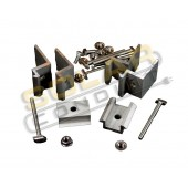 UNIRAC TOP MOUNT CLAMP SET - SIZE F, FOR 2 MODULES - CLEAR, P/N 320029