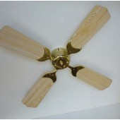 "CEILING FAN 12 VOLT DC 42"" OAK OR WHITE/BRASS W/REMOTE"