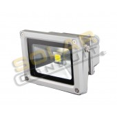 LED BRACKETED OUTDOOR FLOODLIGHT - 10 WATT, 1 LED, 120 VOLT AC, COOL WHITE (5000K), WITH PLUG, KSOL POWER