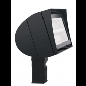 OUTDOOR LIGHTING FLOOD LIGHT - 78 WATT LED, 120-240/277 VAC, 5927 LUMENS, COOL WHITE/DAYLIGHT (5100K),  BRONZE, RAB, P/N FXLED78SF