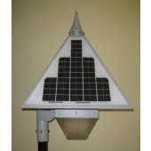 AMERICAN SOLAR ELECTRIC SOLAR PARKING LOT LIGHT - 100 LED, 12 VOLT DC, 12 AH BATTERY