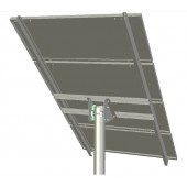 "IRONRIDGE TOP OF POLE MOUNT - SINGLE COLUMN 110"" PANEL SUPPORTS, USES 4"" PIPE, P/N UNI-TP/04A"