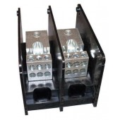 POWER DISTRIBUTION BLOCK - 2-POLE, 1 TAP - #350KCMIL-4 AWG WIRE, 6 TAP - #4-12 AWG WIRE, 600 VOLT, 310 AMP