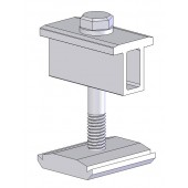 """SNAPNRACK MODULE MID CLAMP - FOR FRAME THICKNESS OF 1.34"""" to 1.8"""", CLEAR, 1 EACH"""