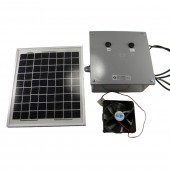 SOLAR FAN KIT - 10 WATT SOLAR MODULE, 12 AMHOUR BATTERY, 2 SWITCHES, KSOL POWER