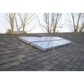 SOLAR HOT WATER SYSTEM - OPEN LOOP, 1-4 PEOPLE, 30 SQUARE FOOT COLLECTOR, FOR NON-FREEZE CLIMATES, NO TANK, SKYLINE 3