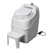 SUN-MAR SPACE SAVER COMPOSTING TOILET - 115/230 VOLT AC, WHITE