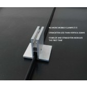 SOL ATTACH PV MODULE MOUNT - FOR STANDING SEAM METAL ROOFS, ALUMINUM MILL FINISH, RUBBER BASE, KIT FOR 2 MODULES