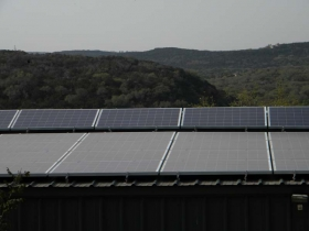Helotes, Texas | 9.6kW Solar Installation on Shed Roof